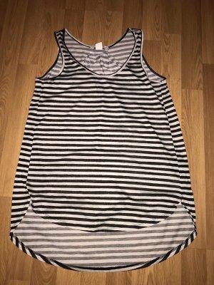 H&M Conscious Collection Tunique de plage gris clair-noir