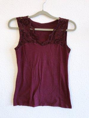 Neuwertig H&M Shirt Bluse Shirt Top Spitze rot Bordeaux Größe S Neu H&M 29,99€