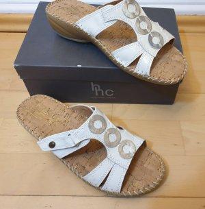 hans hermann collection (hhc) Wygodne sandały biały-srebrny