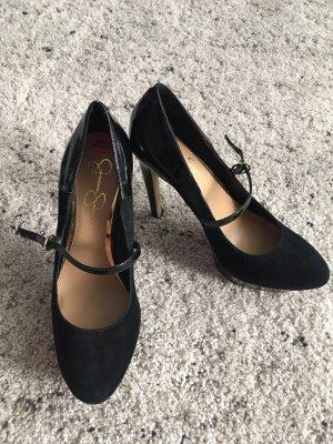 Neuwertig high heels pumps schwarz plateau riemchen 38.5