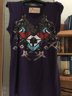 Neuwertig! Interessante, mit Glasperlen bestickte Bluse/Shirt