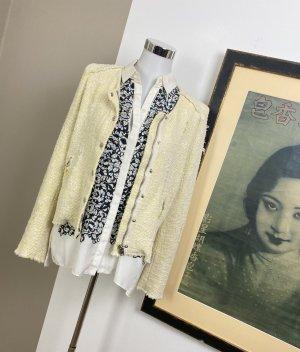 Iro Knitted Blazer pale yellow-natural white
