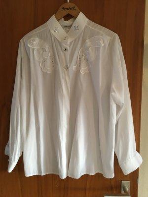 NEUWERTIG - KAUM GETRAGEN - sehr elegante, wollweisse Hämmerle Bluse, Größe 44 - KAUM GETRAGEN
