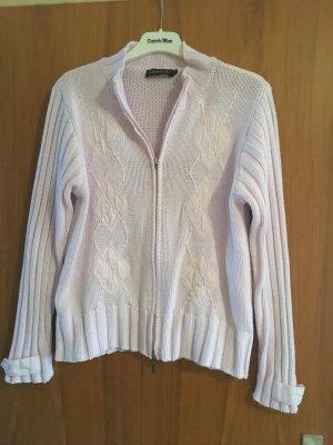 Passport Veste en tricot rose clair coton