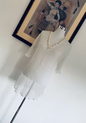 La perla Tunic Dress natural white silk