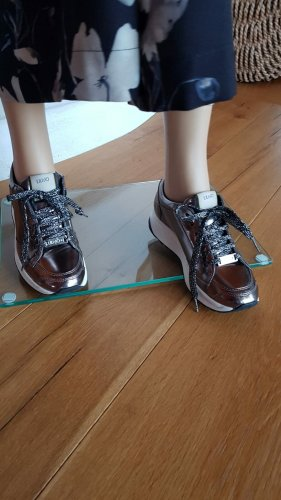 Neuwertig Liu Jo Jeans Sneaker Gr.36 metallic