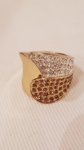 Neuwertig Ring vergoldet Gr. 54