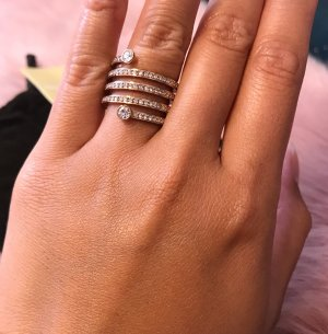 Michael Kors Statement ring roségoud