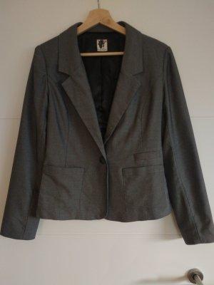 NEUwertig: schöner Blazer schwarz/grau von ICHI in Gr. M