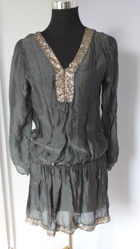 Italian Fashion Robe à paillettes argenté-gris