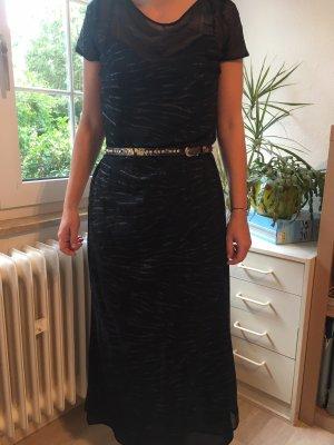 Laurèl Shortsleeve Dress black silk