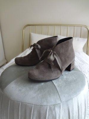 Semler Patucos con cordones marrón grisáceo Cuero