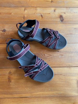 Neuwertig Teva Outdoor-Sandale Gr.41 lila Trekkingsandale