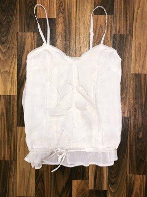 Neuwertig Top Shirt Bluse weiß Rüschen Tally Weil Größe S Sommer Damen Neu 25,99€