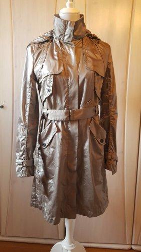 Marc Cain Trench Coat silver-colored-grey mixture fibre