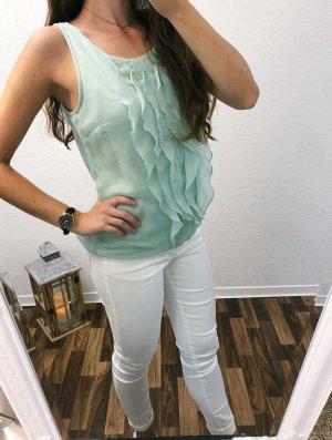 Neuwertig Vero Moda Bluse Top Shirt Oberteil Größe S Rüschen Sommer Türkis grün Damen Neu 34,99€