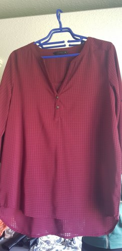 Only Checked Blouse dark red-blackberry-red