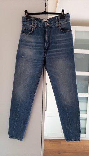 Neuwertige 7/8 High-Waist Jeans von ZARA, Gr. 36
