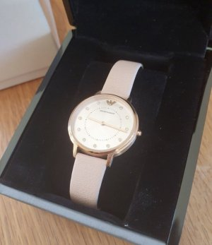 Armani Horloge met lederen riempje veelkleurig