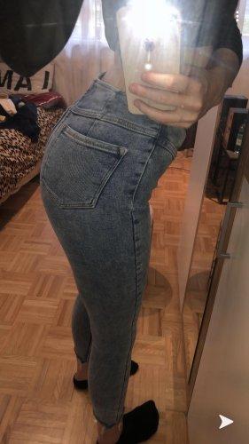 Bershka Stretch Jeans steel blue-cornflower blue