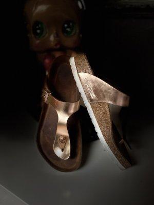 Birkenstock Entre-doigt bronze-doré