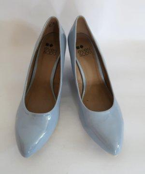 neuwertige blaugraue Keilpumps von Even & Odd in Gr. 42
