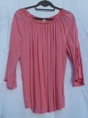 esprit collection Blusa tipo Carmen rosa