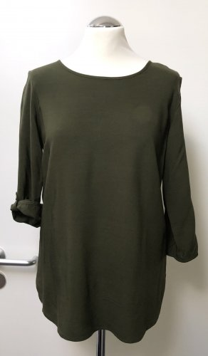 neuwertige Bluse v. Vero Moda, Khaki-grün, Gr. M