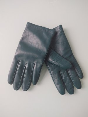 Leather Gloves petrol