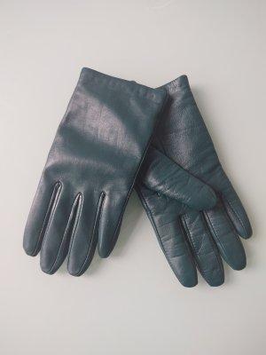 Leren handschoenen petrol