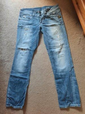 G-Star Jeans a gamba dritta blu