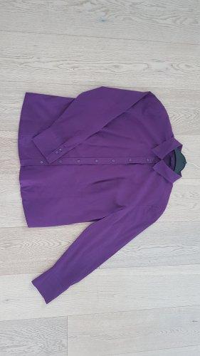 Neuwertige Gerry Weber Business Bluse Hemd 44 violette Aubergine Baumwolle Stretch