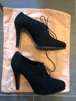 Cate Gray High Heels black leather