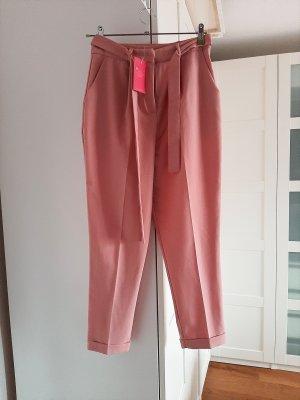 Asos Pantalon taille haute vieux rose polyester