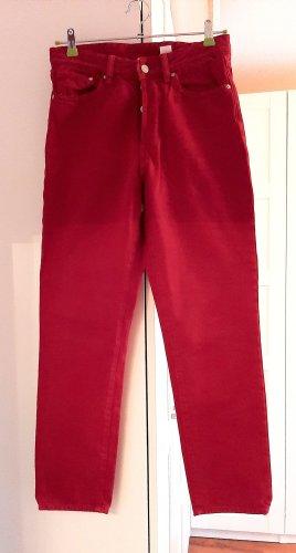 Neuwertige High-Waist Jeans von H&M, rot, Gr. 28/32