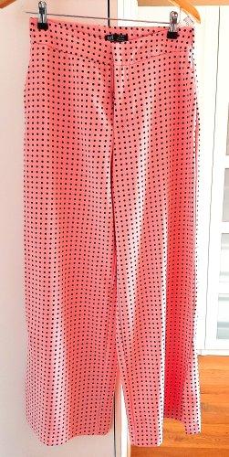 Neuwertige High-Waist Stoffhose von Zara, rosa/schwarz, Gr. M