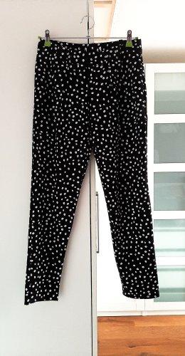 Neuwertige Hose in schwarz/weiss von Mango, Gr. 36