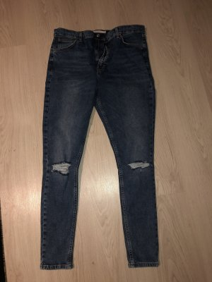 Topshop Hoge taille jeans blauw