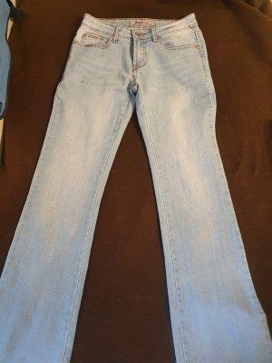a&a Jeans a zampa d'elefante azzurro-azzurro