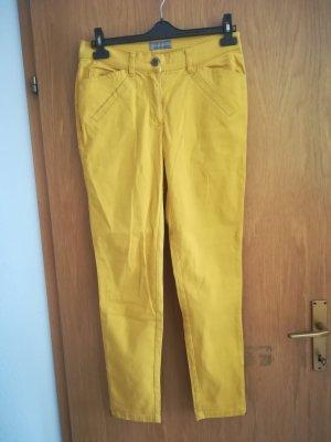 neuwertige Jeanshose (senfgelb)