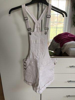 Clockhouse Bib Shorts white-silver-colored