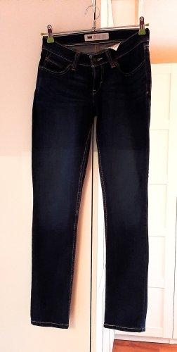 Levi's Jeans a sigaretta blu scuro Cotone
