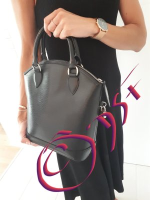 Neuwertige LOUIS VUITTON Lockit Epi Noir Kouril mit Hardware in Silber, original