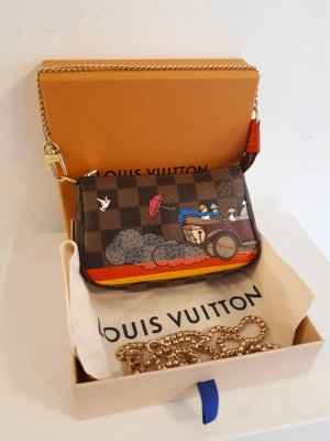 Neuwertige LOUIS VUITTON Mini Pochette, Damier Ebene, Limited Edition 2015.