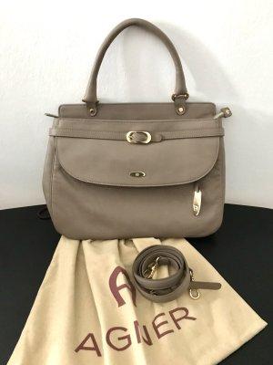 Aigner Handbag beige leather