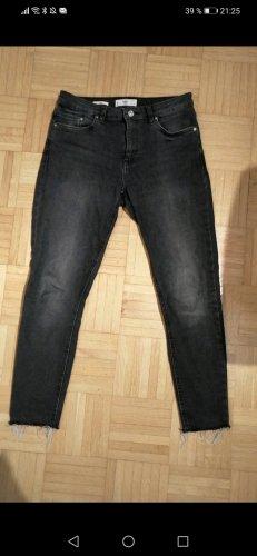 Mango Jeansy ze stretchu czarny-ciemnoszary