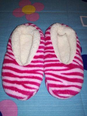 Scuffs white-pink