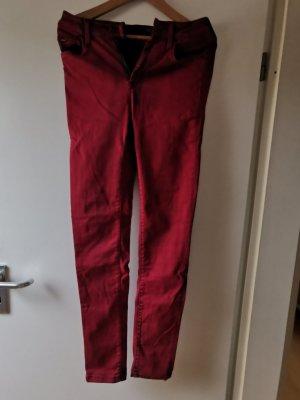 Pepe Jeans London Hoge taille jeans donkerrood Katoen