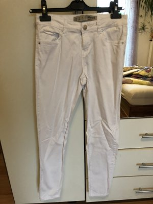 Atmosphere Drainpipe Trousers white-silver-colored