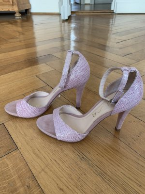 Neuwertige rosa Leder-Sandaletten von UNISA